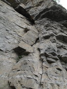 Rock Climbing Photo: This is the crack of a 5.9 almost all the way to t...