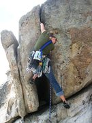 Rock Climbing Photo: Britta on the middle variation start to Free Range...