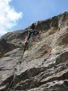 Rock Climbing Photo: Britta's got 'er sent:  FA of Free Range.