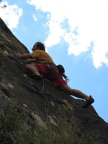 Rock Climbing Photo: Believe it or not, this was the best pic out of th...
