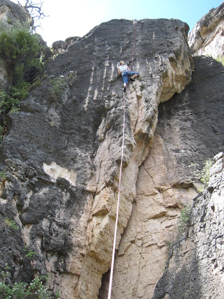 Rock Climbing Photo: Just below the main difficulties on The Burnt Toas...