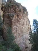 "Rock Climbing Photo: The Borg Boulder.  ""Locutus"" follows the..."