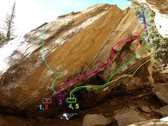 Rock Climbing Photo: Spray Cave  1. Anger Management, V11**  all good h...