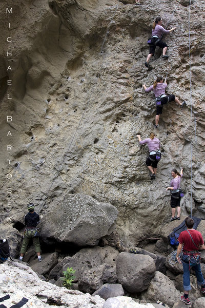 Rock Climbing Photo: Kyla climbing Power Ranger 5.9.  Nice movements on...