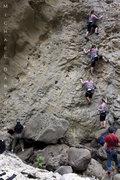 Rock Climbing Photo: Kyla climbing Power Ranger 5.9.  Nice movements on...
