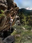 Rock Climbing Photo: Jason celebrates the the classic F.A. before movin...