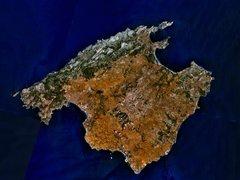 Rock Climbing Photo: A satellite image of Mallorca.
