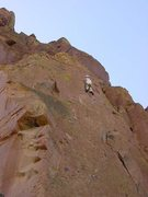 Rock Climbing Photo: Me, way over my head, leading Let's Face  It in 20...