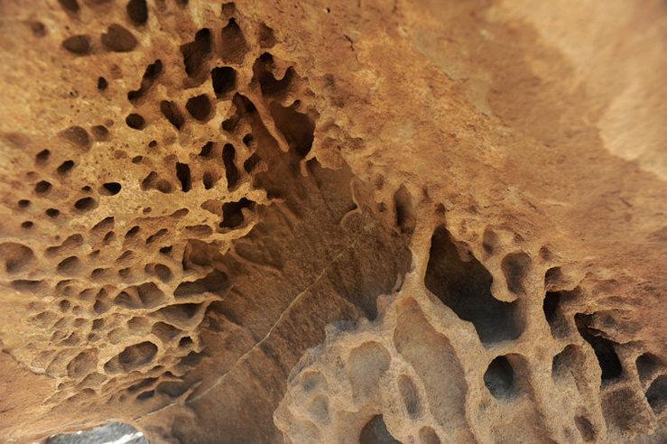 Chemically weathered sandstone in Northern Arizona