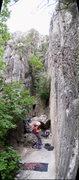 Rock Climbing Photo: Nearing the top of Excessive Bail.  (Josh Graham b...