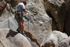 Rock Climbing Photo: Nate finished with variation of Great Steps of Che...