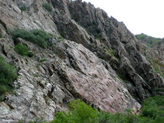 Rock Climbing Photo: Beautiful view of Red Slab from the canyon trail