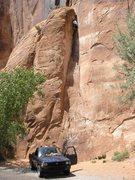 Rock Climbing Photo: lactomangulation on potash road just outside of mo...