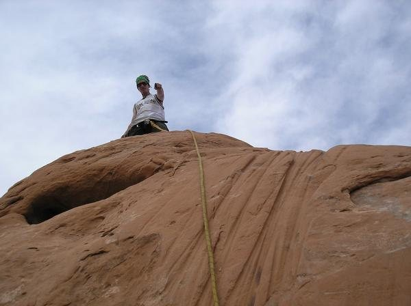 Rock Climbing Photo: on top of owl rock tower in arches