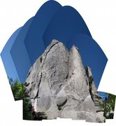 Rock Climbing Photo: panorama collage of bloody fingers and twist and c...