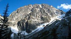 Rock Climbing Photo: Dragontail Peak.  Backbone ridge is the lower of t...