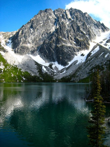 Rock Climbing Photo: Dragontail Peak above Colchuck Lake