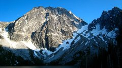 Rock Climbing Photo: Dragontail Peak in the evening.  Serpentine Ridge ...