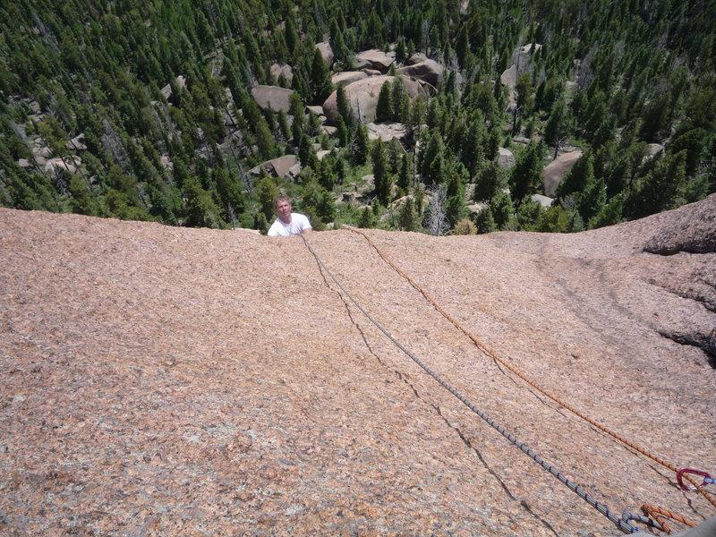 Rock Climbing Photo: Finishing pitch four.  No more button heads!