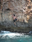 Rock Climbing Photo: Chris a little higher up the route.