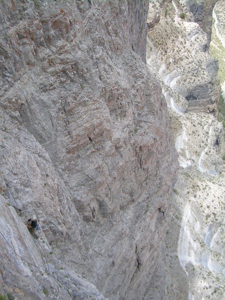 Looking down pitch 7