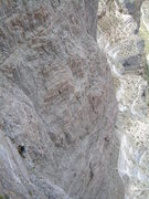 Rock Climbing Photo: Looking down pitch 7