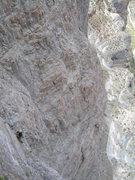 Rock Climbing Photo: Looking down pitch 7