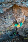 Rock Climbing Photo: Benny Randolf sends the route.