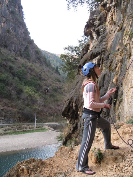 Rock Climbing Photo: belaying...