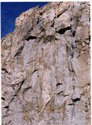 "Rock Climbing Photo: Climbers on the ""rattly fist crack"" seen..."