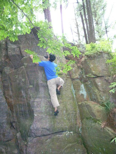 Rock Climbing Photo: Remo climbing.