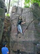 Rock Climbing Photo: Kelsen climbing.