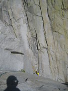 Rock Climbing Photo: Jordi cruising the 4rth pitch, the amazing crack s...