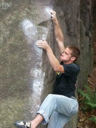 Rock Climbing Photo: Kelsen channeling Louie Armstrong.