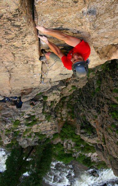 Rock Climbing Photo: Pat onsighting.