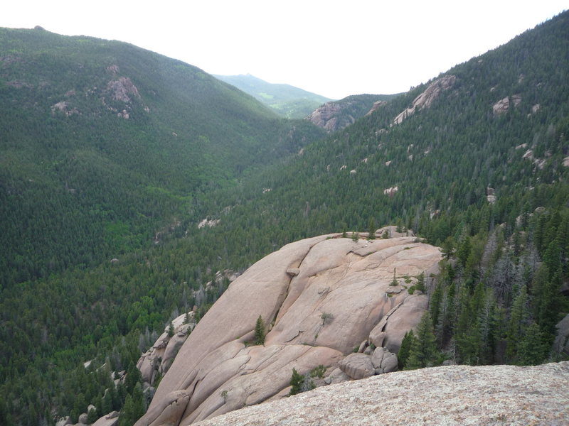 Rock Climbing Photo: Looking west from the summit of Wigwam Dome.