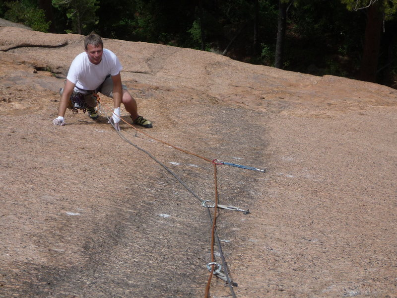 Mark Roth on Lady Slipper, Wigwam Dome.