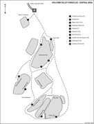 Rock Climbing Photo: An overview map with some climbs to get your beari...