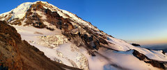 Rock Climbing Photo: Panoramic view of Ptarmigan Ridge in the setting s...