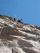 Rock Climbing Photo: Lee continuing to onsite all the hard pitches on t...