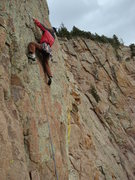 Rock Climbing Photo: Lee just before the crux on pitch 9 of The Promise...