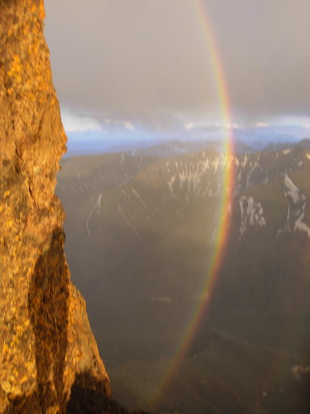 Rock Climbing Photo: Pilot Peak rainbow.