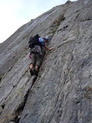 Rock Climbing Photo: Doug on the Direct Start.