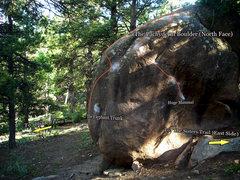 "Rock Climbing Photo: Photo beta for the ""Pachyderm Boulder."""