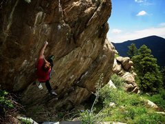 Rock Climbing Photo: Luke coming up with the send and another bloody mi...