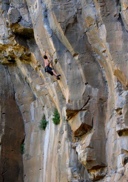 Rock Climbing Photo: Josh Janes gunning the jug.