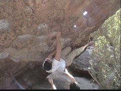 Rock Climbing Photo: BFK locking into the heel hook on Jigsaw Puzzle.