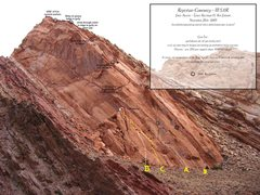 Rock Climbing Photo: A)Reptilian Curiosity.5.11R.B)Curiosity Killed The...
