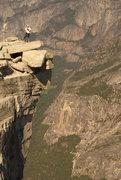 Rock Climbing Photo: Jon Chilling on Half Dome