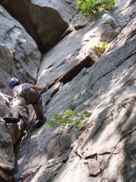 Rock Climbing Photo: Paige leading Megster.